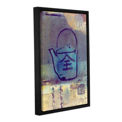Brushstone Good Tea Gallery Wrapped Floater-FramedCanvas