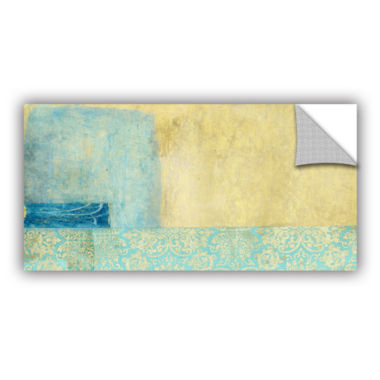 Brushstone Gold and Blue Banner Removable Wall Decal