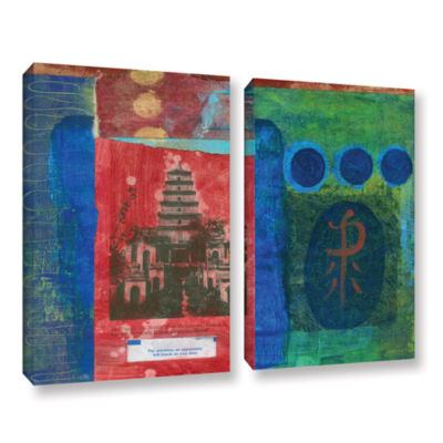 Brushstone Good Fortune Pagoda 2-pc. Gallery Wrapped Canvas Set