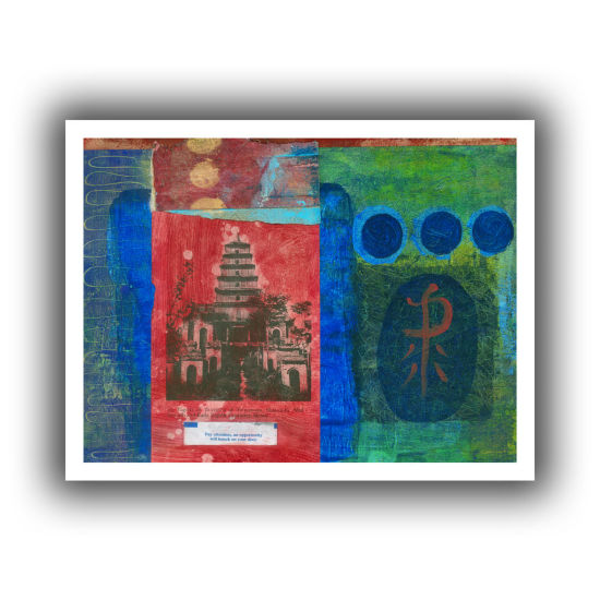 Brushstone Good Fortune Pagoda Canvas Wall Art