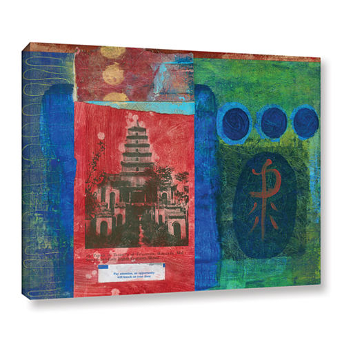 Brushstone Good Fortune Pagoda Gallery Wrapped Canvas Wall Art
