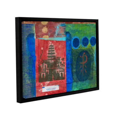 Brushstone Good Fortune Pagoda Gallery Wrapped Floater-Framed Canvas
