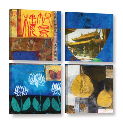 Brushstone Good Fortune 4-pc. Gallery Wrapped Canvas Square Set