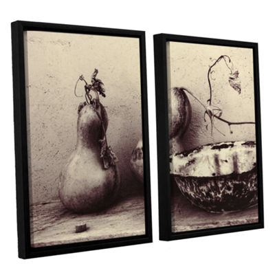 Brushstone Gourds And Bowl 2-pc. Floater Framed Canvas Set