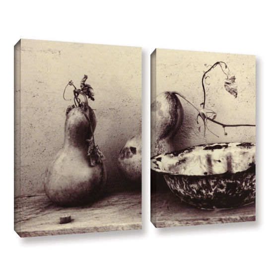 Brushstone Gourds And Bowl 2-pc. Gallery Wrapped Canvas Set