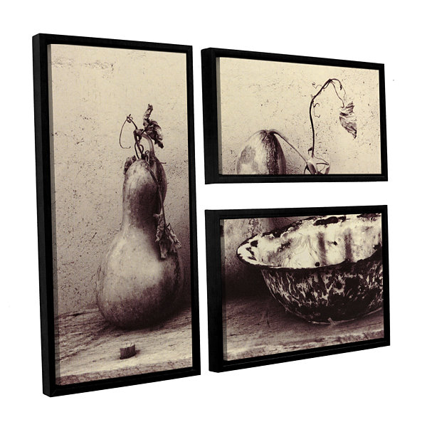 Brushstone Gourds And Bowl 3-pc. Floater Framed Canvas Flag Set