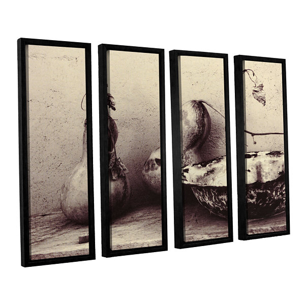 Brushstone Gourds And Bowl 4-pc. Floater Framed Canvas Set