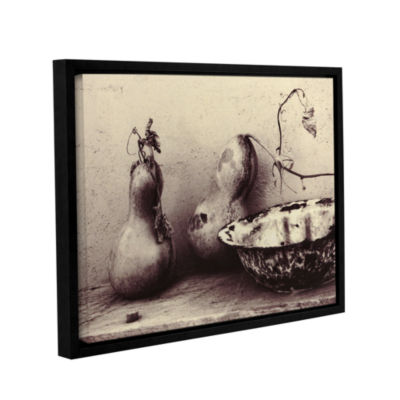 Brushstone Gourds And Bowl Gallery Wrapped Floater-Framed Canvas
