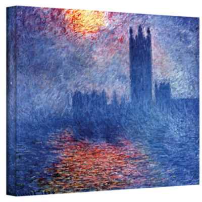 Brushstone House of Parliament Gallery Wrapped Canvas