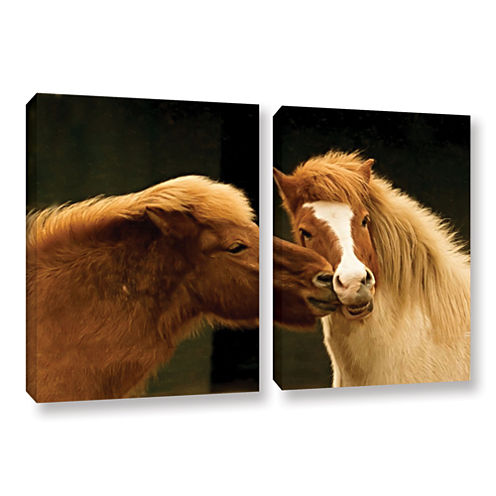 Brushstone Hugz For 2014 2-pc. Gallery Wrapped Canvas Wall Art