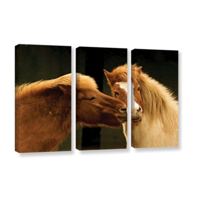 Brushstone Hugz For 2014 3-pc. Gallery Wrapped Canvas Wall Art