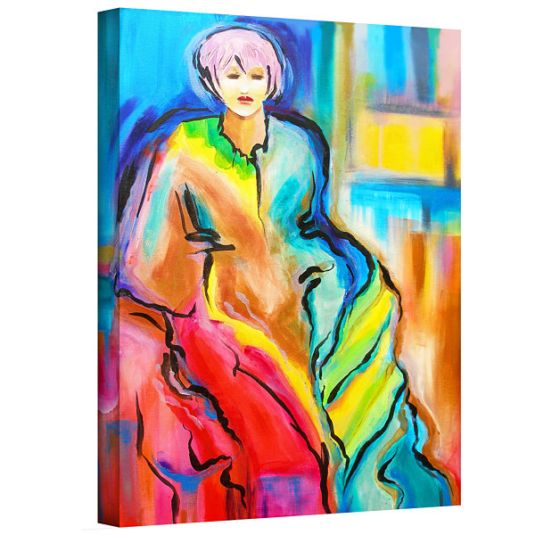 Brushstone I am Queen Gallery Wrapped Canvas