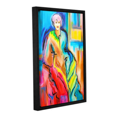 Brushstone I am Queen Gallery Wrapped Floater-Framed Canvas