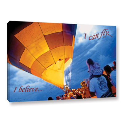 Brushstone I Believe I Can Fly Gallery Wrapped Canvas