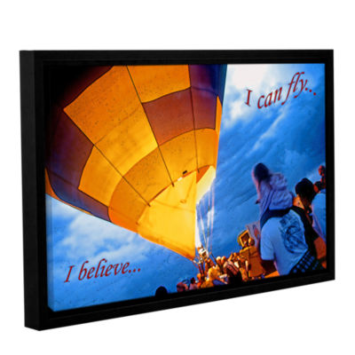 Brushstone I Believe I Can Fly Gallery Wrapped Floater-Framed Canvas