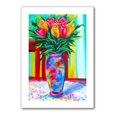Brushstone I Love This Vase Canvas Wall Art