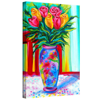 Brushstone I Love This Vase Gallery Wrapped Canvas