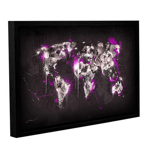 Brushstone Ice World III Gallery Wrapped Floater-Framed Canvas Wall Art