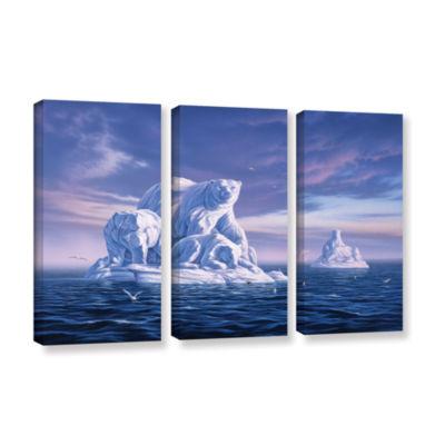 Brushstone Iceberg 3-pc. Gallery Wrapped Canvas Set