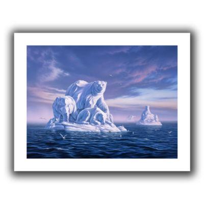 Brushstone Iceberg Canvas Wall Art