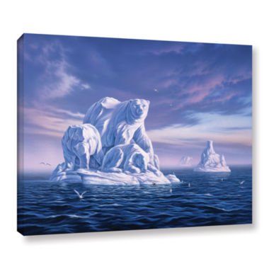 Brushstone Iceberg Gallery Wrapped Canvas