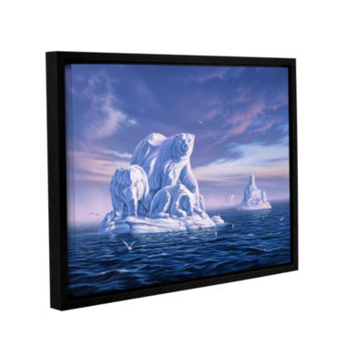 Brushstone Iceberg Gallery Wrapped Floater-FramedCanvas