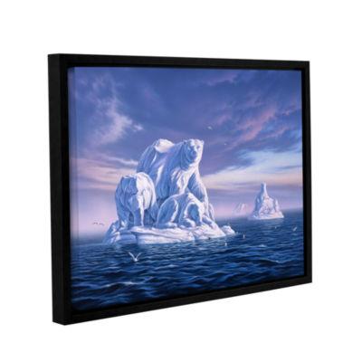 Brushstone Iceberg Gallery Wrapped Floater-FramedCanvas
