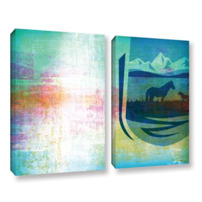Brushstone Icons IV 2-pc. Gallery Wrapped Canvas Set