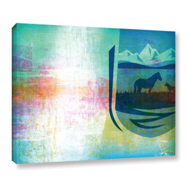 Brushstone Icons IV Gallery Wrapped Canvas