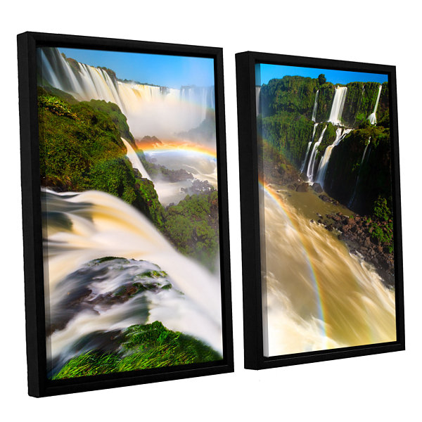 Brushstone Iguassu Falls 2 2-pc. Floater Framed Canvas Set