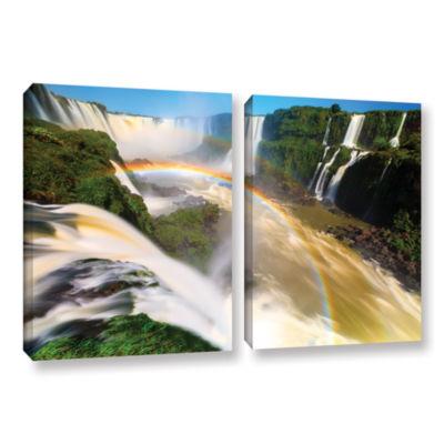 Brushstone Iguassu Falls 2 2-pc. Gallery Wrapped Canvas Set