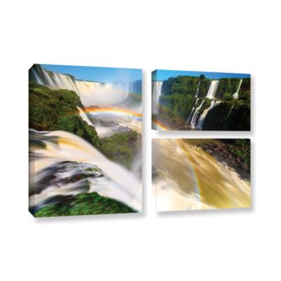 Brushstone Iguassu Falls 2 3-pc. Flag Gallery Wrapped Canvas Wall Art