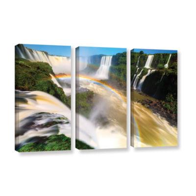 Brushstone Iguassu Falls 2 3-pc. Gallery Wrapped Canvas Wall Art