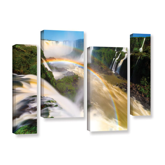 Brushstone Iguassu Falls 2 4-pc. Gallery Wrapped Canvas Staggered Set