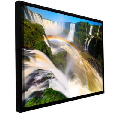 Brushstone Iguassu Falls 2 Gallery Wrapped Floater-Framed Canvas
