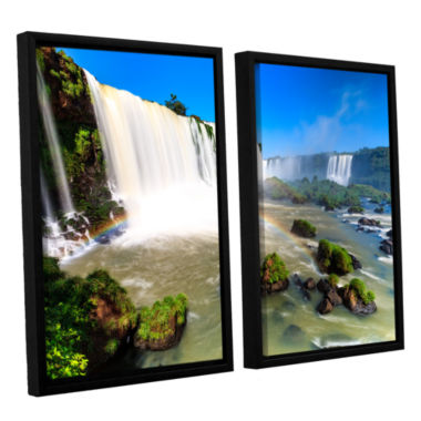 Brushstone Iguassu Falls 3 2-pc. Floater Framed Canvas Set