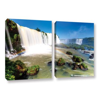Brushstone Iguassu Falls 3 2-pc. Gallery Wrapped Canvas Set