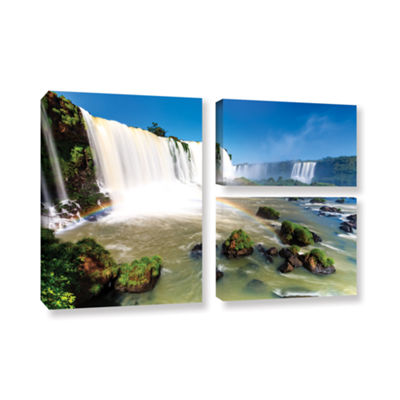 Brushstone Iguassu Falls 3 3-pc. Flag Gallery Wrapped Canvas Wall Art