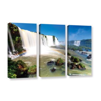 Brushstone Iguassu Falls 3 3-pc. Gallery Wrapped Canvas Wall Art