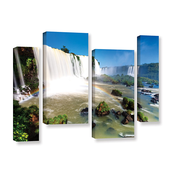 Brushstone Iguassu Falls 3 4-pc. Gallery Wrapped Canvas Staggered Set