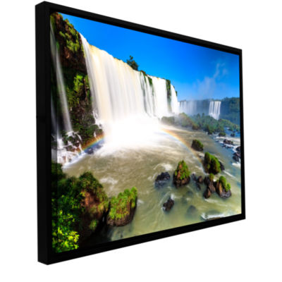 Brushstone Iguassu Falls 3 Gallery Wrapped Floater-Framed Canvas