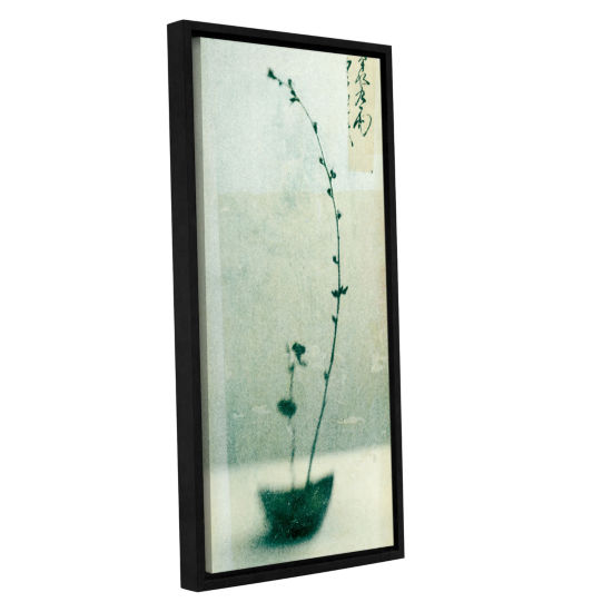 Brushstone Ikebana Gallery Wrapped Floater-FramedCanvas