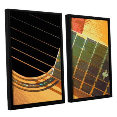 Brushstone Impresion de la Guitarra 2-pc. FloaterFramed Canvas Set