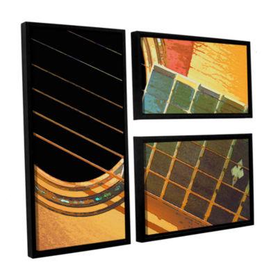 Brushstone Impresion De La Guitarra 3-pc. Flag Floater Framed Canvas Wall Art