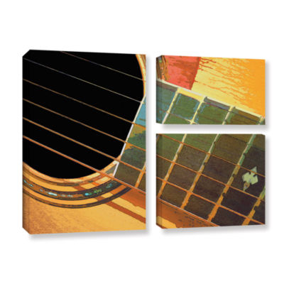 Brushstone Impresion De La Guitarra 3-pc. Flag Gallery Wrapped Canvas Wall Art
