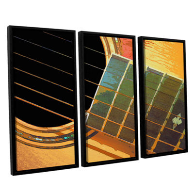 Brushstone Impresion De La Guitarra 3-pc. FloaterFramed Canvas Wall Art