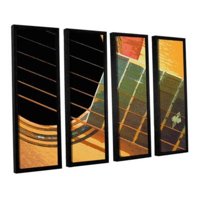 Brushstone Impresion de la Guitarra 4-pc. FloaterFramed Canvas Set