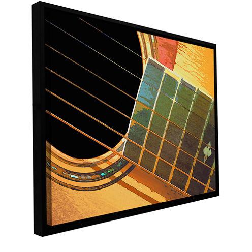 Brushstone Impresion De La Guitarra Gallery Wrapped Floater-Framed Canvas Wall Art