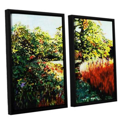 Brushstone Impression Path 2-pc. Floater Framed Canvas Wall Art
