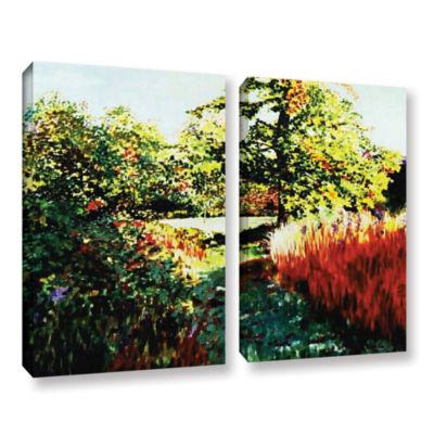 Brushstone Impression Path 2-pc. Gallery Wrapped Canvas Set